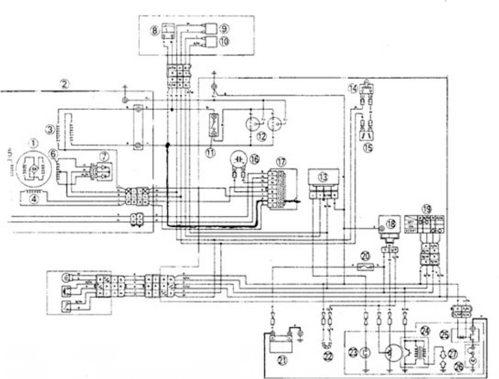 汽车发电机接线原理图